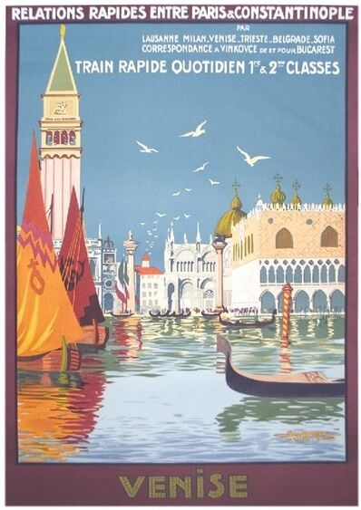 Dorival, 'Venise, Train Rapide Quotidien', (Date unknown)