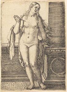 Barthel Beham, 'Lucretia Standing at a Column'