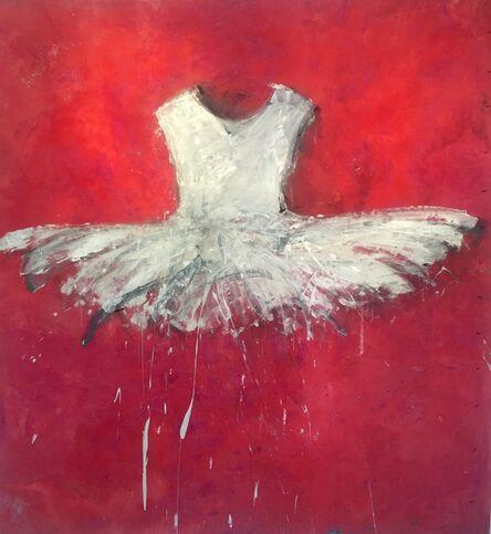 Ewa Bathelier, 'White Palm Beach Dress', 2017
