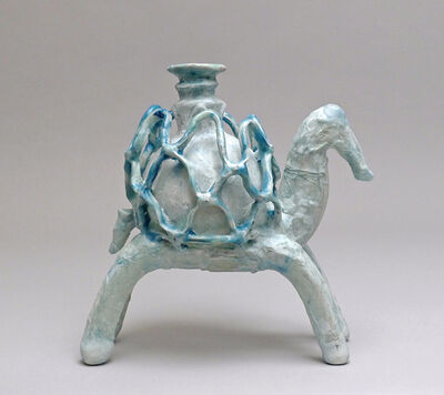 Shari Mendelson, 'Animal with Cage Cup (Blue)', 2015