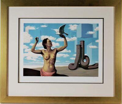 """René Magritte, '"""" Une Jeune Femme Presente Avec Grace"""" from the suite"""" Les Enfants Trouves"""" ', 1953"""