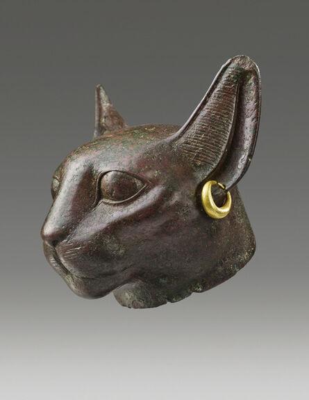 Unknown Egyptian, 'ANCIENT EGYPTIAN HEAD OF THE GODDESS BASTET', Third Intermediate Period, ca. 1070, 712 B.C.