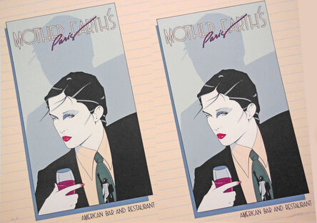 Patrick Nagel, 'Mother Earth's Paris, American Bar and Restuurant - Rare Double Print Edition', 1979