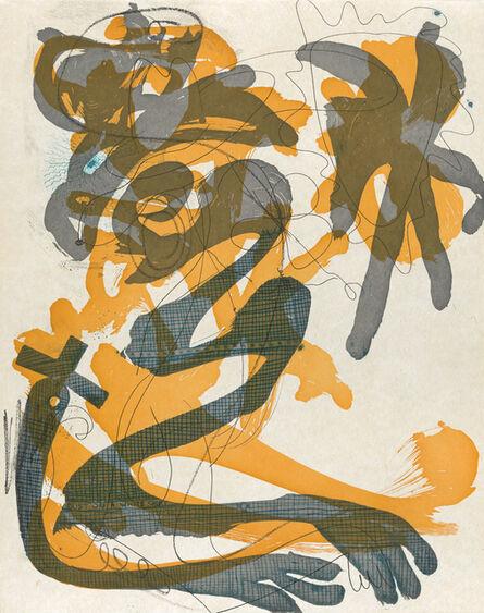Charline von Heyl, 'Dust on a White Shirt (Evil Eye)', 2014