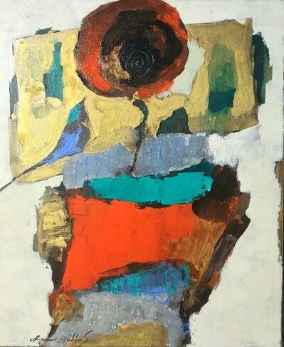 Ammar Alnahhas, 'Poppy with blackbird', 2021