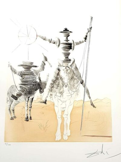 "Salvador Dalí, 'Original HandSigned Etching ""Don Quixote and Sancho"" by Salvador Dali', 1980"