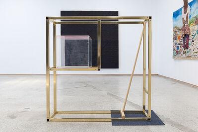 Leyden Rodriguez-Casanova, 'A Gold Shelf, Mop, Cube, and Carpet', 2017