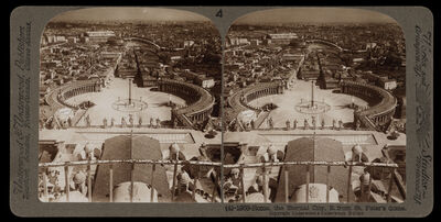 Bert Underwood, 'Rome, the eternal city, from St. Peter's dome', 1900