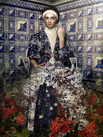 Cooper & Gorfer, 'Marilina in a Tiled Room', 2014
