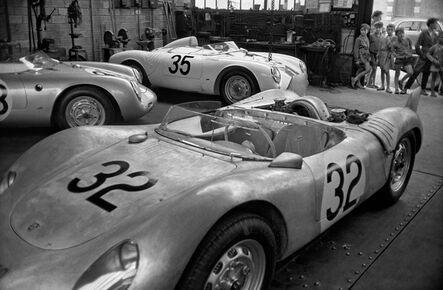 Jesse Alexander, 'Twenty Four Hours of Le Mans, Porsche RSK Spyder, Garage Near Le Mans at Teloche', 1959