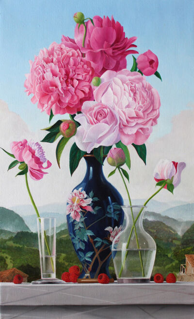James Aponovich, 'Peonies in a Japanese Vase', 2013