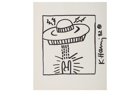 Keith Haring, 'Untitled (Man With UFO)', 1982