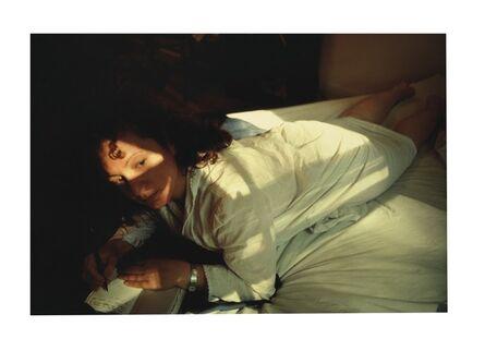 Nan Goldin, 'Self-portrait writing in diary, Boston', 1989