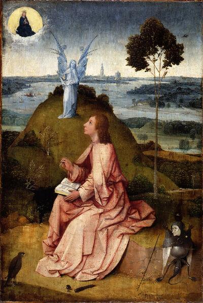 Hieronymus Bosch, 'Saint John the Evangelist on Patmos / The Passion of Christ', ca. 1505