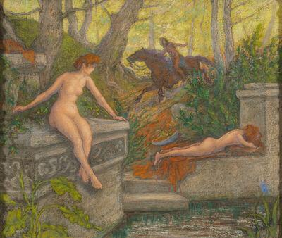 Paul Ranson, 'Deux Nymphes Surprises par un Cavalier (Two Nymphs Surprised by a Rider)', 1905