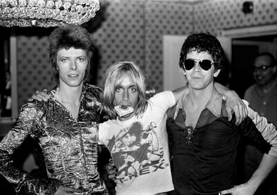Mick Rock, 'Bowie, Iggy, Lou Dorchester Hotel', 1972