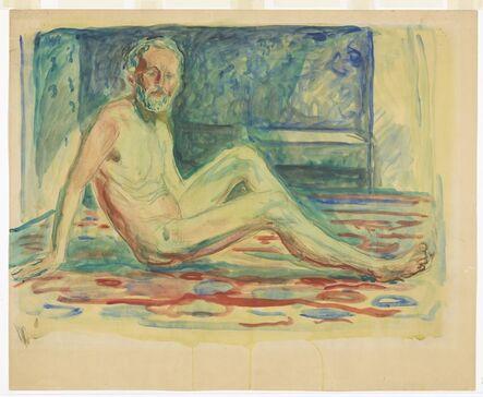 Edvard Munch, 'Selvportrett akt, sittende', 1903