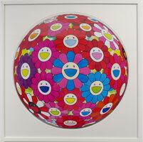 Takashi Murakami, 'Flowerball (3D) - Blue, Red', 2013