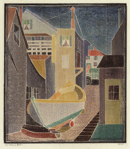 Blanche Lazzell, 'TheSeine Boat.', 1927