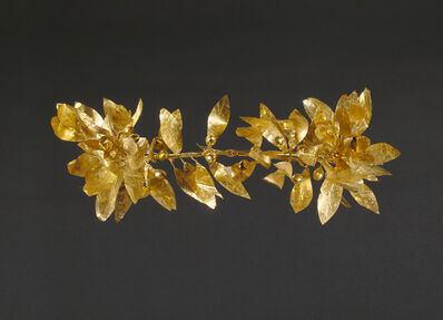 'Wreath with detached stem including leaves and detached berries', 300 -100 BCE