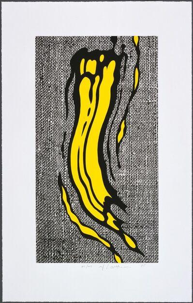 Roy Lichtenstein, 'Yellow Brushstroke', 1985