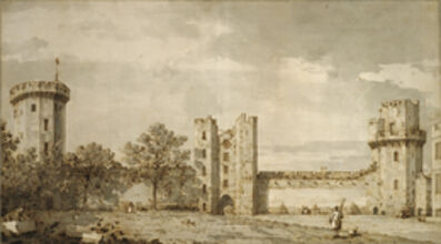 Canaletto, 'Warwick Castle: The East Front from the Courtyard', 1748
