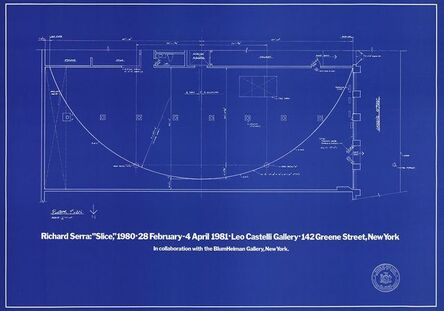 Richard Serra, 'Slice: Plans for Future Leo Castelli', 1981