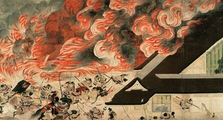 'Section of Night Attack on the Sanjo Palace', Late 13th century