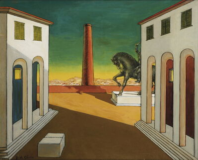 Giorgio de Chirico, 'Piazza d'Italia con cavallo', ca. 1970