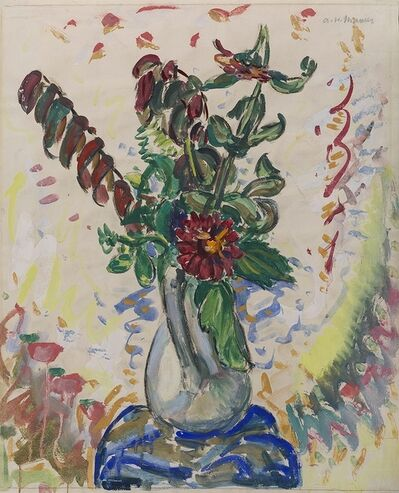 Alfred H. Maurer, 'Flowers in a White Pitcher', 1926-1928