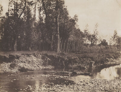 André Giroux, 'Tree and River Landscape', 1855c/1855c