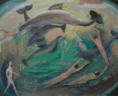 Lucy L'Engle, 'Swimming with the Dolphins', n.d.