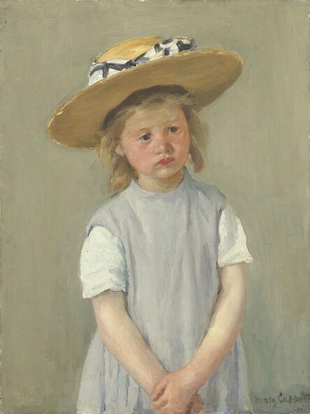 Mary Cassatt, 'Child in a Straw Hat', ca. 1886