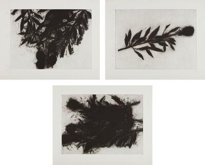 Donald Sultan, 'Black Roses (October); Black Roses; (November); and Black Roses (December)', 1989