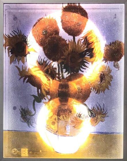 Patrick Raynaud, 'VAN GOGH'S LIGHT CASE, SUNFLOWERS', 1995