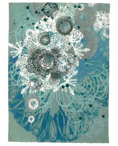 Swoon, 'SNOW BLOSSOMS (Hand Embellished Artist Proof)', 2016