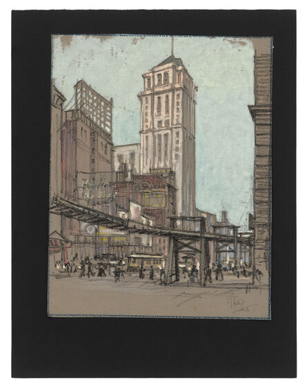 Jules Andre Smith, 'The El, Lower Manhattan', ca. 1915
