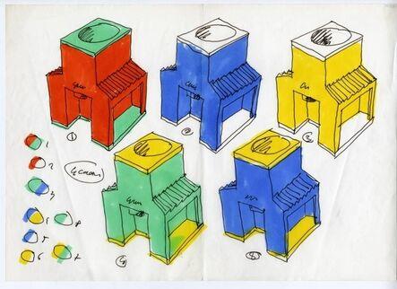 Luca Meda, 'drawing for La Granita', 1984