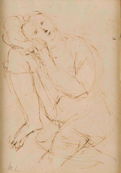 Mikhail Fedorovich Larionov, 'Femme assise'