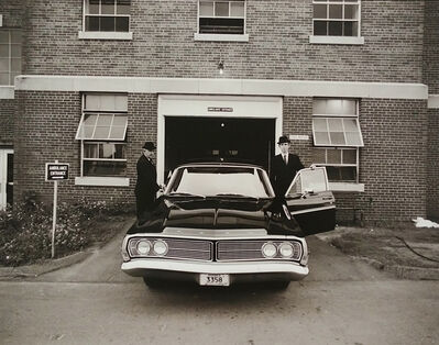 Jeffrey Silverthorne, 'Morticians and Hearse, H Building, Morgue Work', 1972