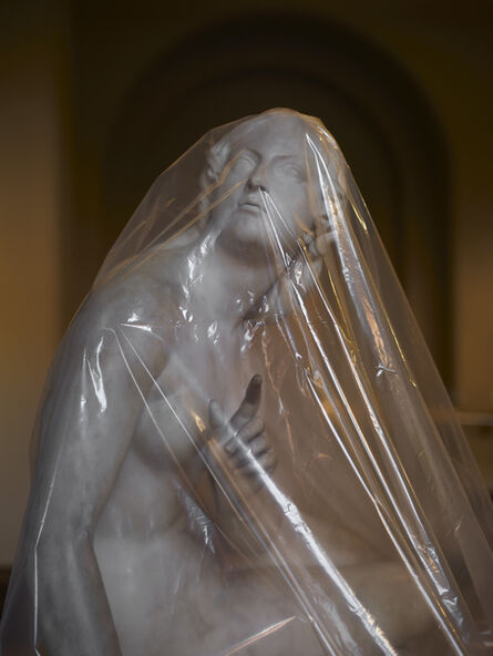 Simon Roberts, 'Shrouded Statue #2 (Eve listening to the voice by Edward Hodges Bailey)', 2021
