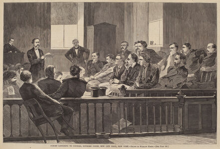 After Winslow Homer, 'Jurors Listening to Counsel, Supreme Court, New City Hall, New York', published 1869
