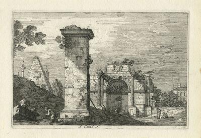 Canaletto, 'Paesaggio con pilastro e rovine classiche (Landscape with Ruined Monuments). ', 5