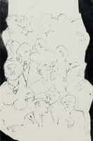 Andy Warhol, 'Crowd of Male Upper Torsos', 1954