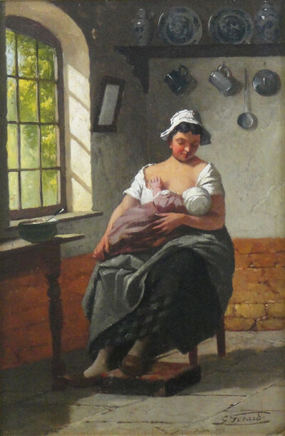 Gaston Gerard, ' Mother with child', Early 20th century