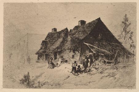 John Mackie Falconer, 'Negro Huts at Wilmington', ca. 1880