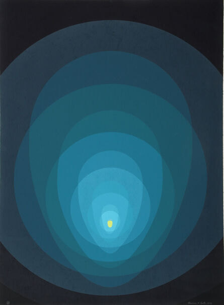 Clarence Holbrook Carter, 'Untitled - Blue Mandala', 1970