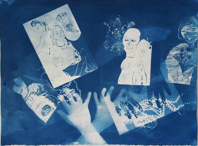 Ofri Cnaani, 'Blue Print (OC real and fake hands) #2', 2015