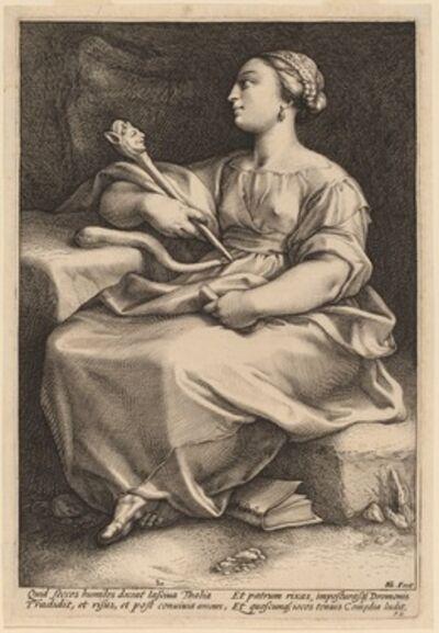 Hendrik Goltzius, 'Thalia', probably 1592