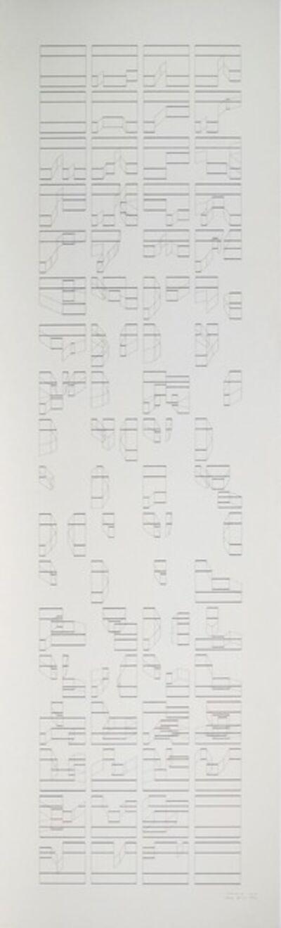 Elena Asins, 'Canons 22 3D3', 1993